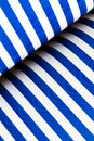 Blue And White Striped Paper