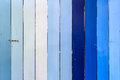 Blue and white striped wooden wall Royalty Free Stock Photo