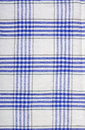 Blue and white tablecloth pattern Royalty Free Stock Photo