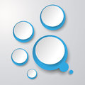 Blue White Thought Bubble With Circles Royalty Free Stock Photo
