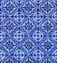Blue White Tiles Pattern Background Royalty Free Stock Photo
