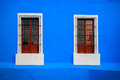 Blue White Window Royalty Free Stock Photo