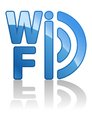 Blue wifi icon this is file of eps format Royalty Free Stock Photography