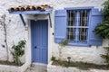 Blue Window and Door Royalty Free Stock Photo