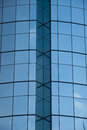 Blue windows on a building an abstract image of the exterior of modern in puxi area of shanghai china Stock Photos