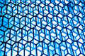 Blue windows details of the harpa concert hall in reykjavík iceland Royalty Free Stock Photography