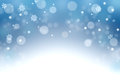 Blue winter background with snowflakes and bokeh. Christmas nigh Royalty Free Stock Photo