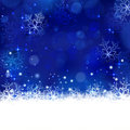 Blue winter, Christmas background with snowflakes, stars and shi Royalty Free Stock Photo