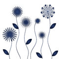 Blue winter flowers isolated objects Stock Photography