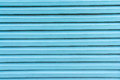 Blue wood lath in horizontal view Stock Photos