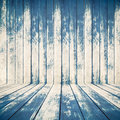 Blue wood texture of rough fence boards Royalty Free Stock Photo