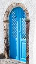 Blue wooden door Royalty Free Stock Photo