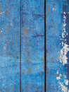Blue wooden floor splotch on old wood plank of color Royalty Free Stock Photography