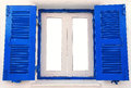 Blue Wooden Window Royalty Free Stock Image