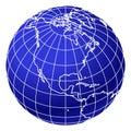Blue world globe 2 Stock Photo