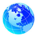 Blue world globe Royalty Free Stock Images