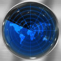 Blue World Radar Royalty Free Stock Images