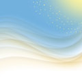 Blue and yellow abstract background wave Stock Photo