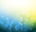 Blue and yellow bokeh abstract light background illustration design Stock Photography