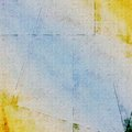 Blue and yellow grungy vintage background Stock Image