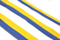 Blue and yellow ribbons Royalty Free Stock Photo
