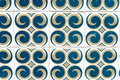 Blue, Yellow, White Patterned Portuguese Tiles Royalty Free Stock Photo