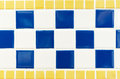 Blue Yellow And White Tile Wal...