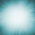 Blue zoom blur background with white center and radial sunshine rays Royalty Free Stock Photo