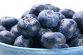 Blueberries in blue bowl Royalty Free Stock Photo