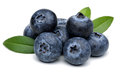Blueberries isolated on white background Royalty Free Stock Photo
