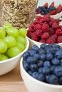 Blueberries, Raspberries, Strawberries, Grapes Royalty Free Stock Photo