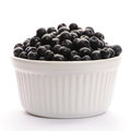 Blueberry in bowl Stock Image