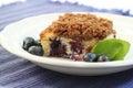 Blueberry buckle crumb cake Stock Photo