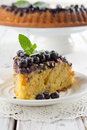 Blueberry cake in the shape of heart Royalty Free Stock Photos