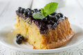 Blueberry cake in the shape of heart Royalty Free Stock Images