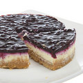 Blueberry Cheesecake Dessert Stock Photography