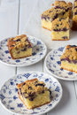 Blueberry Crumble Cake from Above vertical Royalty Free Stock Photo