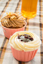 Blueberry cup cake Royalty Free Stock Photo