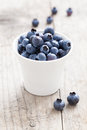 Blueberry fresh fruits in a bowl Royalty Free Stock Image