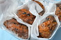 Blueberry fritters fried glazed with sugar a seasonal local treat in southern new jersey where the cultivation of high bush Stock Images
