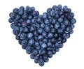 Blueberry heart shape symbol concept for healthy eating and lifestyle Stock Images