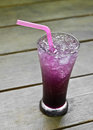 Blueberry italian soda Royalty Free Stock Photo