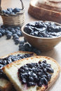 Blueberry jam Royalty Free Stock Images