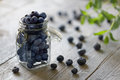Blueberry in jar Royalty Free Stock Photo