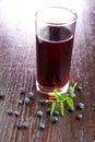 Blueberry juice Royalty Free Stock Photo