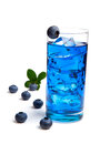 Blueberry juice / cocktail with ice Royalty Free Stock Photo