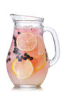 Blueberry lemonade jug Royalty Free Stock Photo