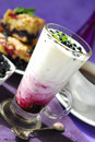 Blueberry milkshake Stock Images