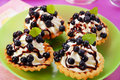 Blueberry mini tartlets Stock Photo
