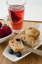 Blueberry Muffin Breakfast Stock Photography